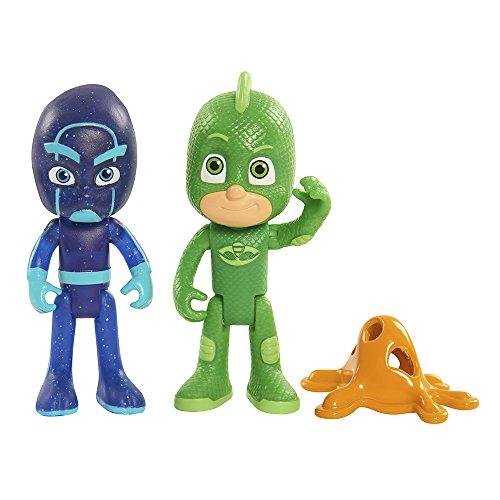 Disney Junior PJ Masks Gekko Night Ninja Action Figure 2-Pack