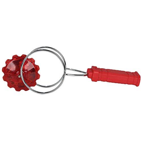 colorofthewind Gyro Light Up Kinetic Child Toys Wheel Magnetic Gyro Gyroscope Toysred