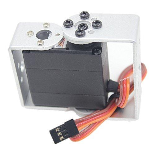 Hobbypark HDR315M 15kg Digital High Torque Robot Servo Motor 180 Degree Metal Gear With U Mouting Case Pack of 2