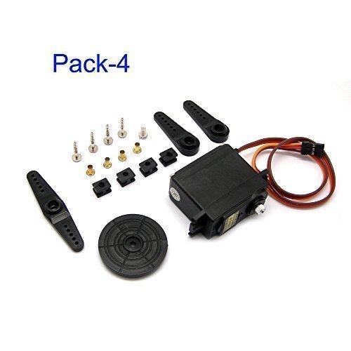 Servo Xl TopLiok Pack-4 MG995 Servo 15kg Digital Metal Gear Servo High Torque Servo RC Car Accessories