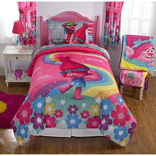 Trolls Full Size Comforter and Sheet Set