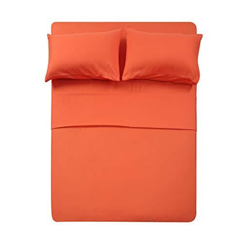 Best Season Full Size Sheet Set-4 Piece Coral Color Softest 1800 Brushed Microfiber Bedding Set-Deep PocketEasy FitBreathableFade Wrinkle Resistant