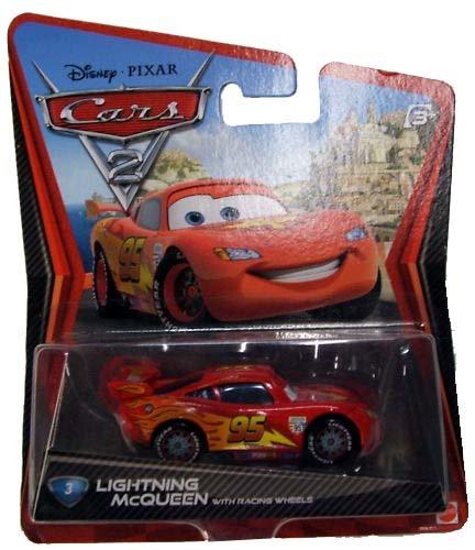 Disney Cars 2 LIGHTNING MCQUEEN Diecast Car 3 of 16 - RACING Wheels Version