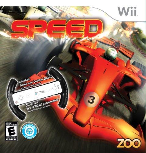 Speed with Racing Wheel - Nintendo Wii