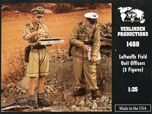 Verlinden 135 Luftwaffe Field Unit Officers 2 Resin Figures Kit 1488
