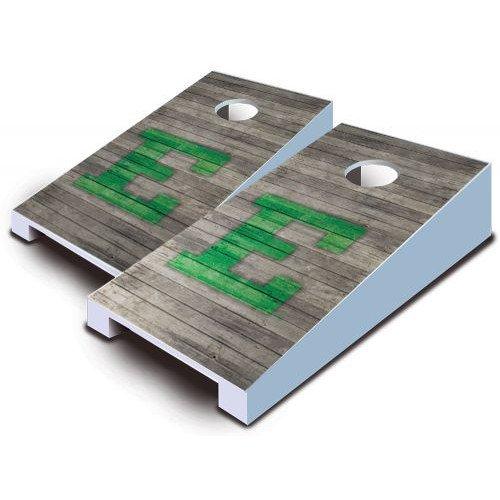 Eastern Michigan Eagles Tabletop Cornhole Boards Distressed Wood Bean Bag Tailgate Toss Game Mini Miniature