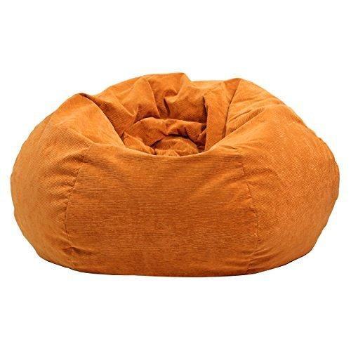 Gold Medal 30008459108 Small Bean Bag for Children Orange Coduroy by Gold Medal
