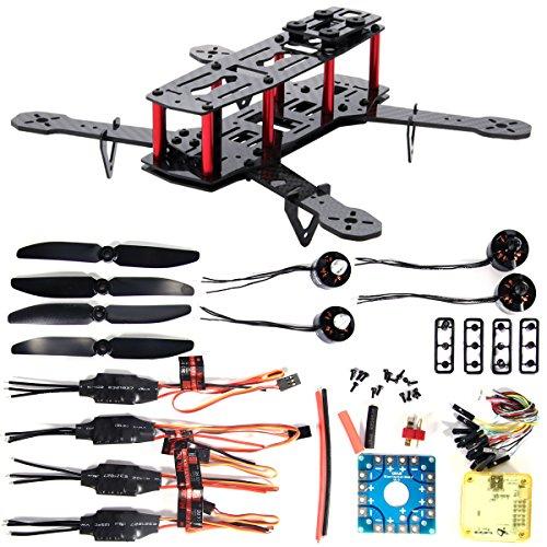 XCSOURCE DIY 4-Axis 250 3K Carbon Fiber FPV Quadcopter Kit Combo CC3D Motor12A ESC Propeller RC005
