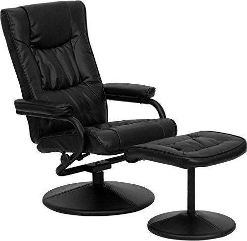 Flash Furniture BT-7862 Leather Recliner Ottoman Cream