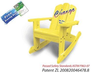 Final Sale   Cute Light Yellow Rocker 2 In 1 Chair 20622 For Kids Great Ideas