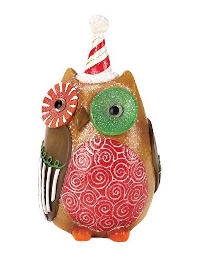 Home Locomotion Decorative Candy Cane Hat Owl Decor
