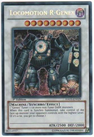 Yu-Gi-Oh - Locomotion R-Genex HA03-EN029 - Hidden Arsenal 3 - 1st Edition - Secret Rare