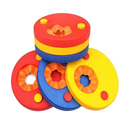 ZAILHWK Arms Float 6Pcs Swim Float Discs EVA Foam Arm Bands Foam Float Discs Inflatable Board Swimming Ring for Kids Boys Girls Toddlers 2-10 Years