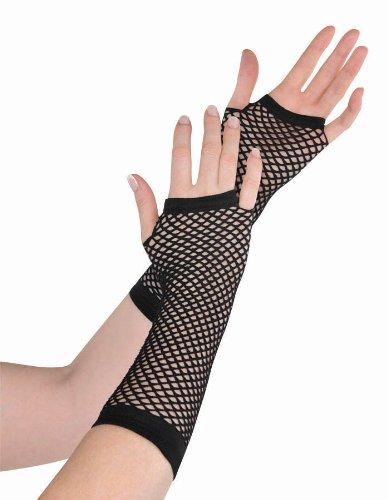 Rainbow Fishnet Long Gloves