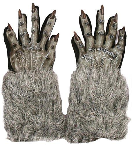 Werewolf Gloves Grey Adult Accessory