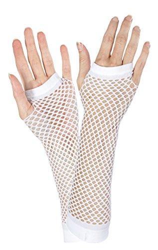 White Fishnet Long Gloves