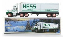 1987 Hess Toy Truck Bank with Barrels