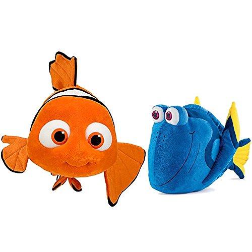 Disney Finding Nemo Toys Dory and Nemo 16 Plush Stuffed Animal Bundle 2 Items