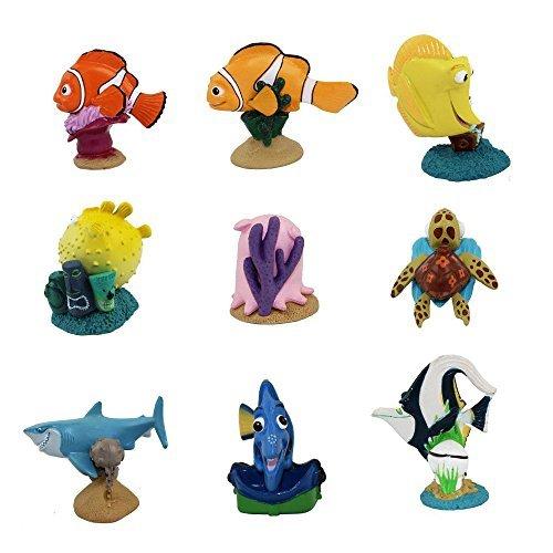 Set of 9 Finding Nemo PVC Figures Playset Toys