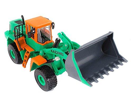 Remeehi Metal Digger Toy Metal Loader Backhoe Dozer Model with Music Light Green