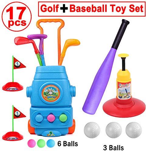 HanShe Golf ToyBaseball ToyKids Golf Set with 6 BallsBaseball Set with 3 BallsGolf for KidsBaseball ToddlerToddler Golf SetKids GolfKids BaseballOutdoor ToyBirthday Gift