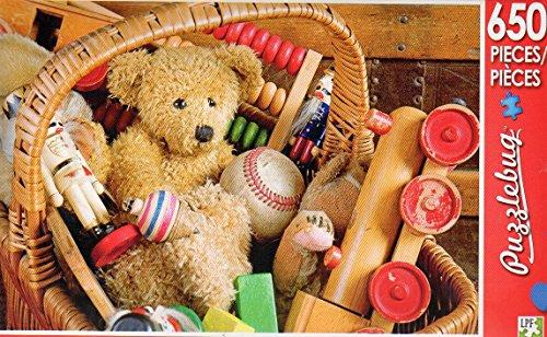 Antique Toy Basket - Puzzlebug 650 Piece Jigsaw Puzzle
