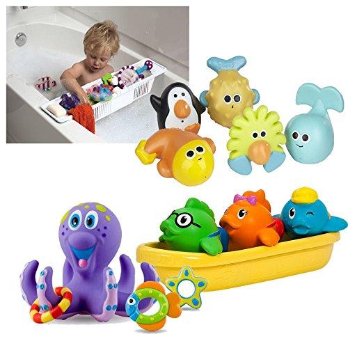 KidCo Bath Toy Basket Organizer with Bath Toys