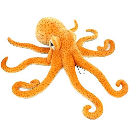 JesonnGiant Realistic Stuffed Marine Animals Soft Plush Toy Octopus Orange335 or 85CM1PC