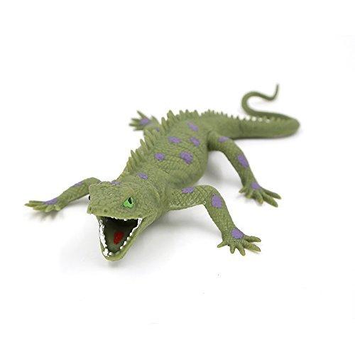 Lizards ToysRubber Lizard Figures Realistic 9-inch ToyMarine iguanaGreat Safety Material TPR Super StretchyZoo World Realistic Lizard Bathtub Squishy Reptile toys by Zoo World