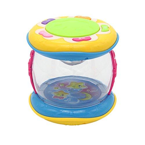 bouti1583 Creative Children Music Drum Rotary Beat Drum Educational Toys Marine Drum Gift