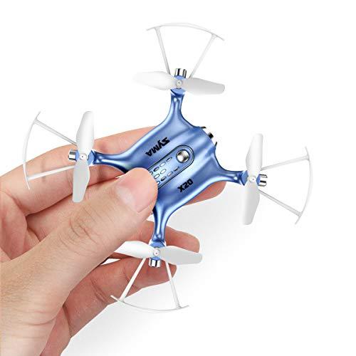 Mini Pocket Drone SYMA X20 24Ghz Nano LED RC Quadcopter Altitude HoldHeadless Mode for Kids-Blue