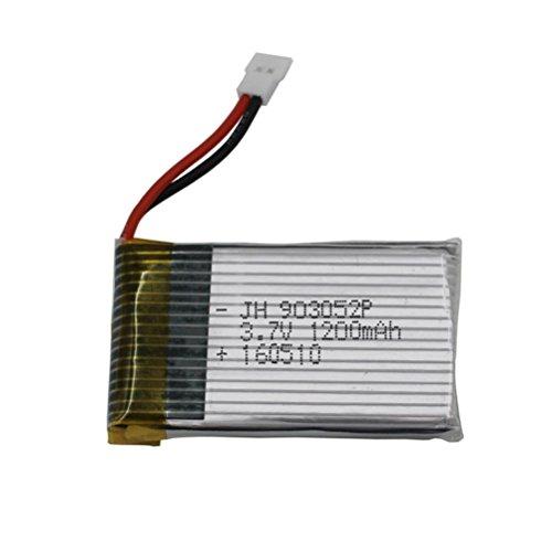 Upgrade 37V 1200MAH Battery for Syma X5 X5C X5SC X5SW-1 X5SW Black