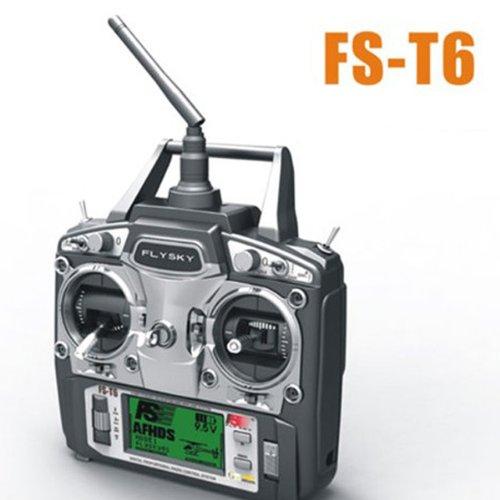 Flysky FS-T6 V2 24GHz 6CH Transmitter for V959 Syma X1 Mode 2 Remote Control Toys Parts