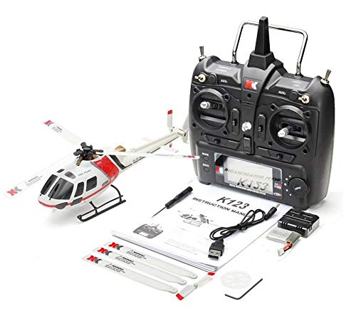 Ocamo RC Helicopter XK K123 6CH Brushless AS350 Scale 3D6G System RTF Upgrade WLtoys V931 with Remote Control Version
