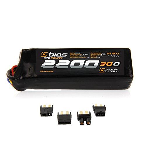 Bias 30C 4S 2200mAh 148V LiPo Battery UNI Plug EC3DeansTraxxasTamiya for RC Car Truck Buggy Boat Heli and Drone