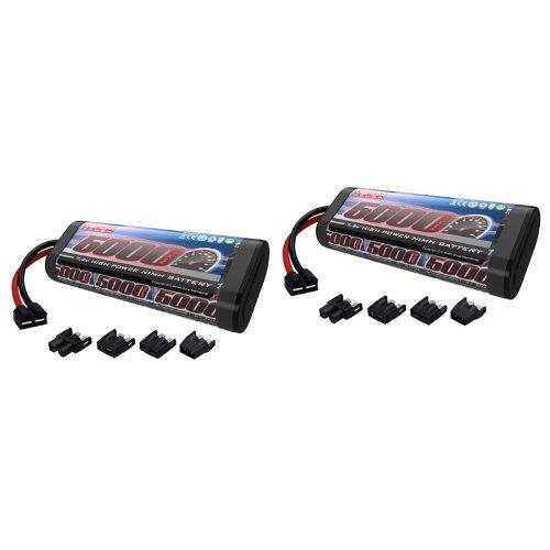 Venom 72V 5000mAh 6-Cell NiMH Battery with Universal Plug EC3DeansTraxxasTamiya x2 Packs