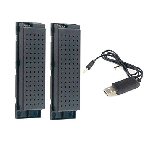 Ruhiku GW 2pcs 37V 500MAH Lipo Battery for Eachine E56 JJRC H47 RC Quadcopter USB Charge