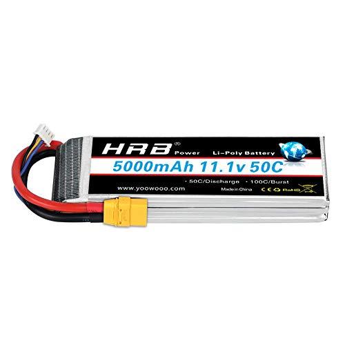 HRB 111V 5000mAh 3S LiPo Battery Pack 50C XT90 Plug for Traxxas RC Cars Slash vxl Slash 4x4 vxl E-maxx Brushless Axial e-revo Brushless