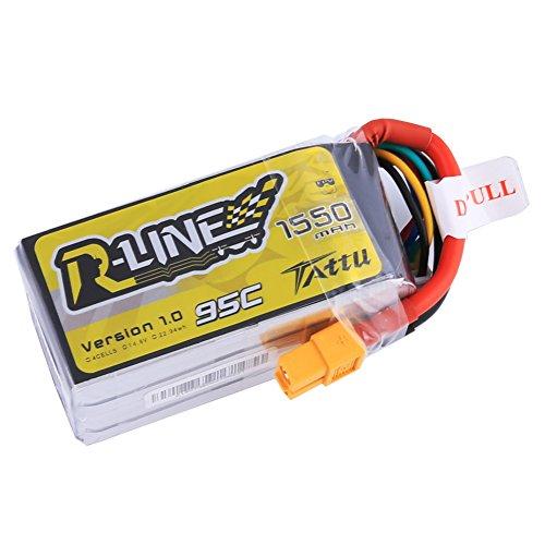 Tattu R-Line LiPo Battery Pack 1550mAh 148V 95C 4S with XT60 Plug for FPV Racing