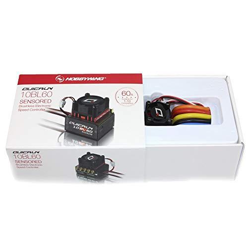 Hobbywing QUICRUN 10BL120 120A Sensored  10BL60 60A Sensored Brushless ESC Speed Controller for 110 112 RC Mini Car 10BL60 60A Sensored