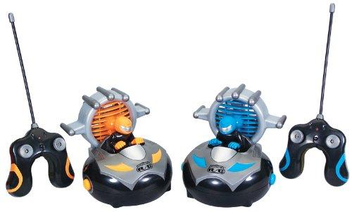 Kid Galaxy Remote Control Bump n Chuck Bumper Cars RC Toy Game 2 Radio Control Vehicles