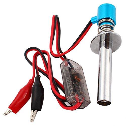 Yiguo Upgraded 6V-24V Electronic Glow Plug Starter Igniter suitable for Nitro RC Car Blue 80100