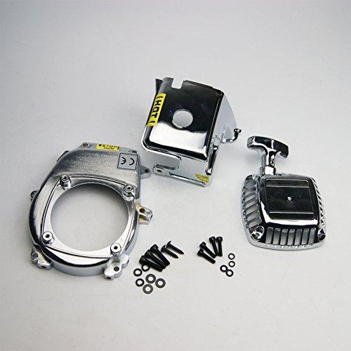Chrome Engine Cover Flywheel cover Pull Starter for HPI Rovan KM Baja 5B 5T s