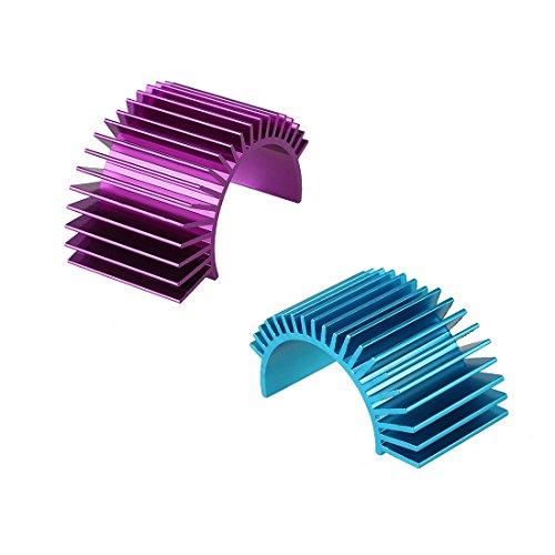 Electric Motor Kit Heat Sink Aluminum Heatsink Blue Purple 2 Sets for 540 550 Motor Radiator Aluminum