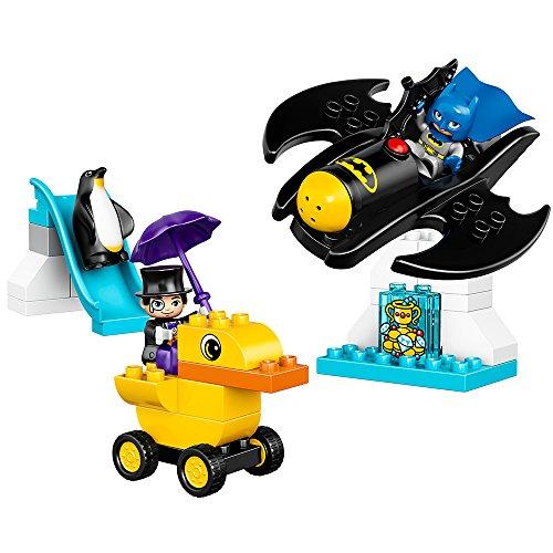 LEGO DUPLO DC Comics Super Heroes Batman Batwing Adventure 10823 Preschool Pre-Kindergarten Large Building Block Toys for Toddlers