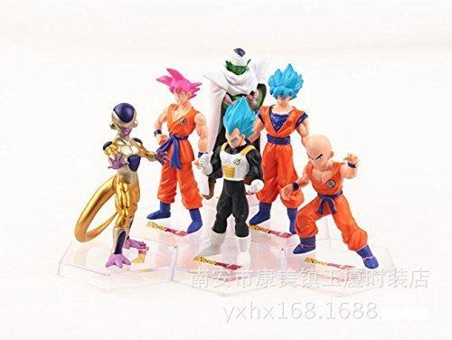 Dragon Ball Z Resurrection F Super Saiyan Son Goku Kakarotto Frieza Vegeta 6pcsset 12cm Action Figure Toys