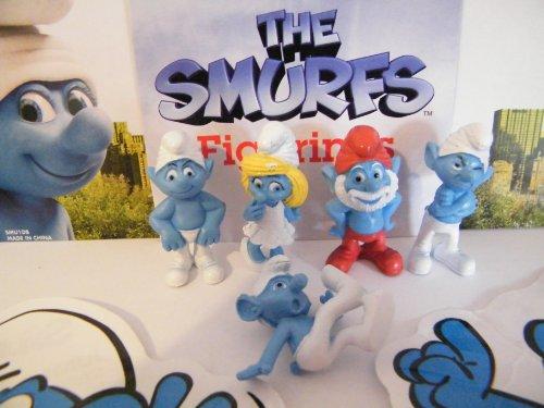 Smurf Movie Figure Set and Fun Jumbo Stickers