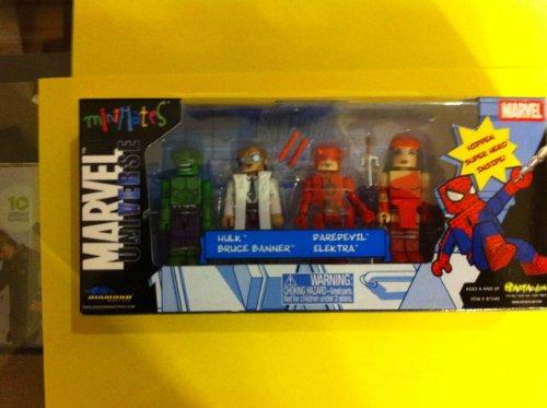 Marvel Universe MINIMATES HULK BRUCE BANNER DAREDEVIL ELEKTRA with Hidden Super Hero Figure
