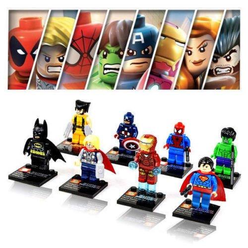 Nickys Gift LanLan 8 Pcs Mini League Avengers Super Hero Figure Building Block Bricks Kids Toy Set