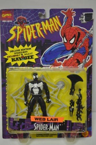 Spiderman - WEB Lair Spider-man Black Costume - 13cm Action Figure - Marvel Comics by Toy Biz